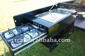 Powder coated camping trailers with aluminum sheet