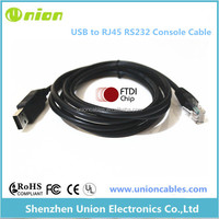 USB RS232 to RJ45 console rollover cable for console ports
