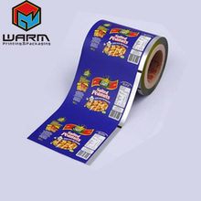Alibaba China Plastic Lamination Aluminum Foil Peanut Food Metalize Packaging Films In Roll Up