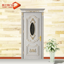 Mahogany morden fancy polished entry solid wood door