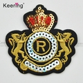 Fashion custom badge iron-on patches wholesale sequin embroidery patch WEFB-071