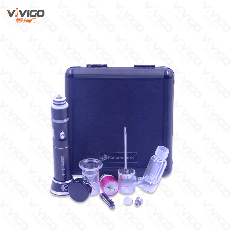 2017 the hot selling wax e nail vaporizer titanium nail disposable glass with pelican case