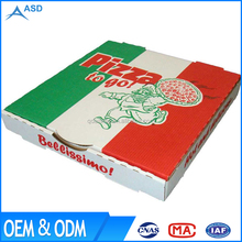OEM one piece paper cardboard carton slice 16 inch white personalized pizza box manufacturer for scooter