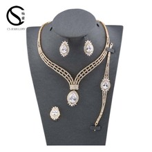 E-7481changsheng Rhodium Lover's Jewellery new cz brass jewelry set