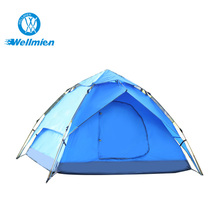 3-4 Persons Pop Up Double Layers Double Doors Auto Shade Tent