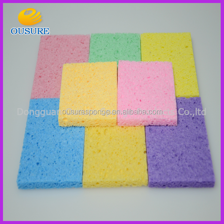 Natural kitchen cleaning cellulose sponge