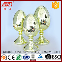 fancy inside silver glass easter egg decorations with led light