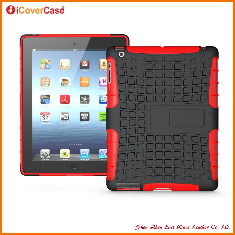 China Suppliers Tablet TPU PC Hybrid Tire Heavy Duty Armor Cover for iPad 2 3 4 case