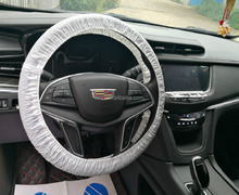 Universial Plastic disposable tractor steering wheel cover