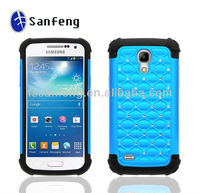 Customized combo design hybrid cases for samsung galaxy s4 mini case