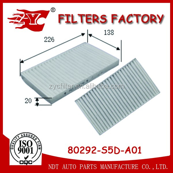 Factory Genuine Japanese car Japan Auto parts Cabin Air filter 80292-S5D-A01