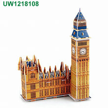 Big Ben 3D puzzle Building Set,The World Great Architecture 3D Puzzles DIY Toys for Children and Adult Jigsaw Puzzle