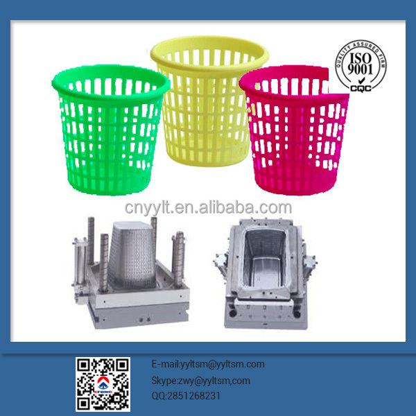 Provide molding one-stop production mold design make small size plastic dustbin double injection mold