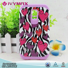 Cute hybrid phone case for Samsung Galaxy S5 Active