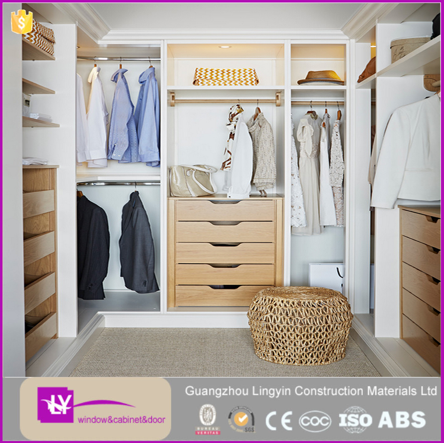Luxury Wardrobe Designs Wooden Storage Clothes Closet Walk-in Wardrobe Cabinet
