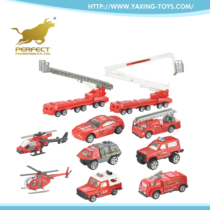 Most sold simulation mini metal car 1:87 kid toy fire truck for sale