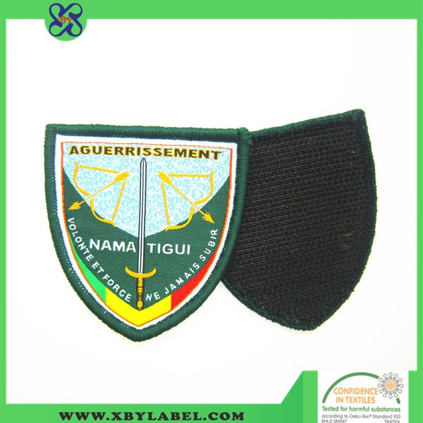 Cheap Custom School Cloth Brand Iron On Embroidered Patch