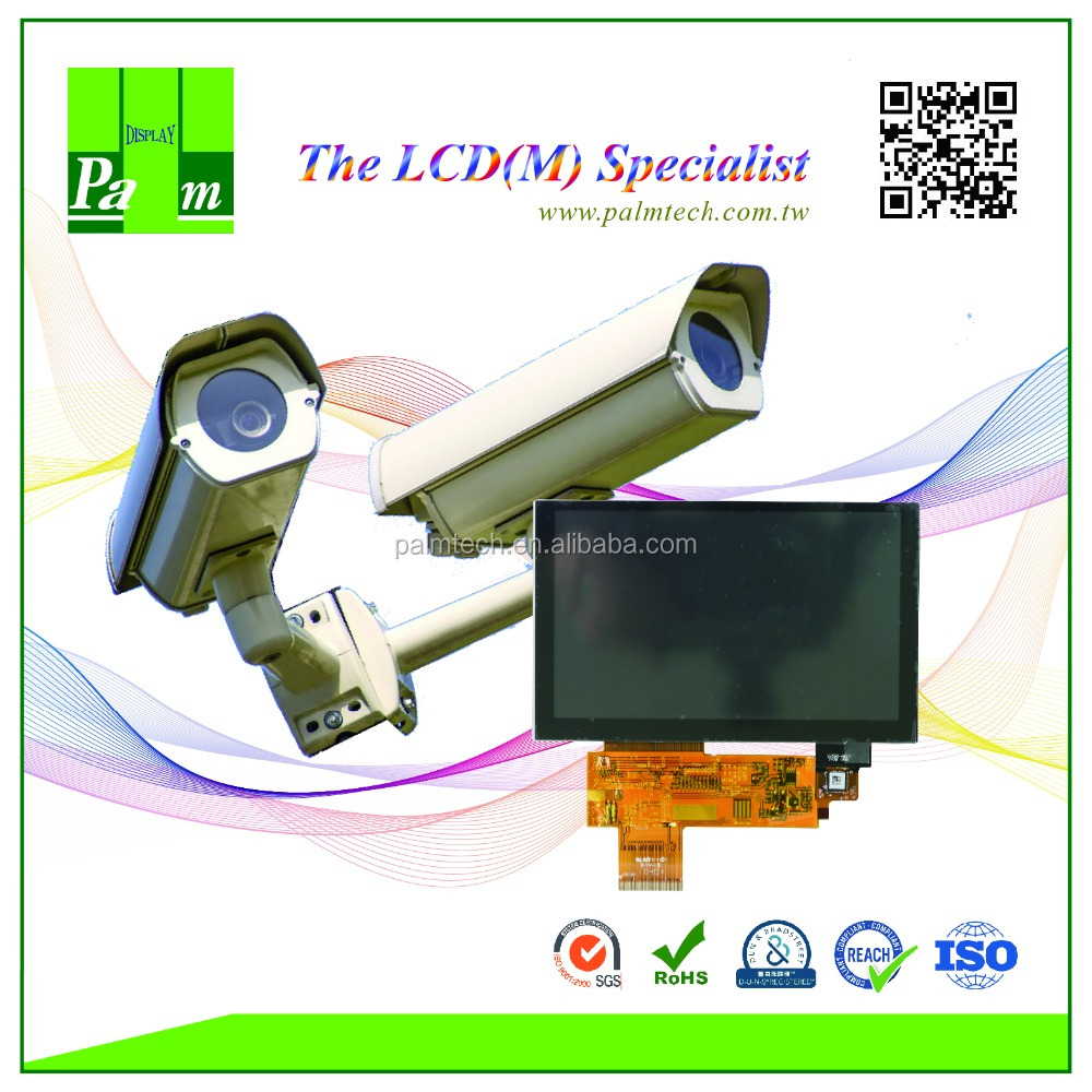 Popular 5 inch 800x480 WVGA TFT with resistive or capacitive touch screen modules