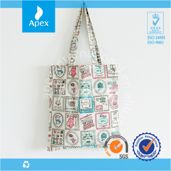 Portable Custom Printing Canvas Tote Bags for student