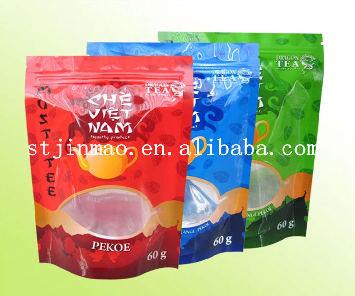Colorful design reusable empty tea bags wholesale with window