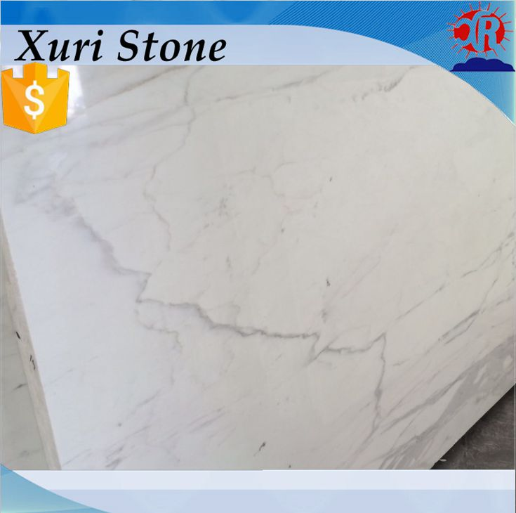 Polished Popular Natural Price of Italian Statuario White marble slab