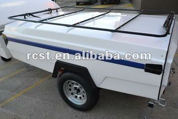 light weight off road camper trailer made of fiberglass, fashion double bed design