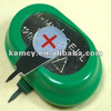 flashligt battery button cell battery nimh 1.2v 120mAh rechargeable battery