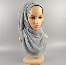 new fashion silver line crinkled crumple crushed japanese woman hippie scarf