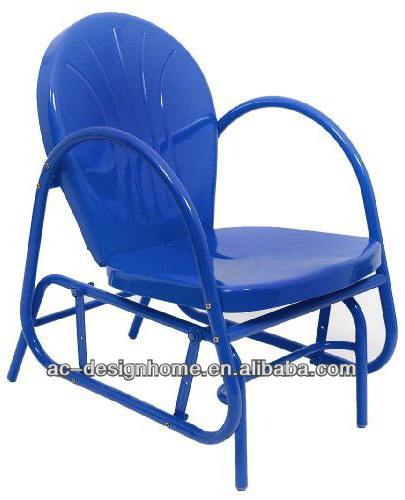 ELECTRIC BLUE RETRO METAL TULIP SINGLE GLIDER