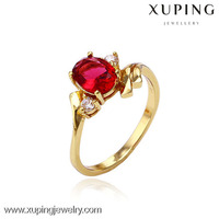 China wholesale fashion 14k gold color wedding ring