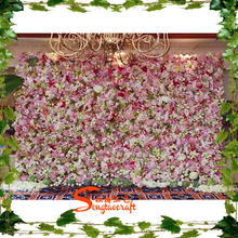 30SQM colorful Artificial Flower Wall with Wholesale Silk Flower Hydrangea and rose for wedding