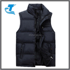 Winter Zip Warm Kids Down Vest With Stand Collar