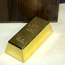 Business Promotion Gift Gold bullion paper weight and door stop