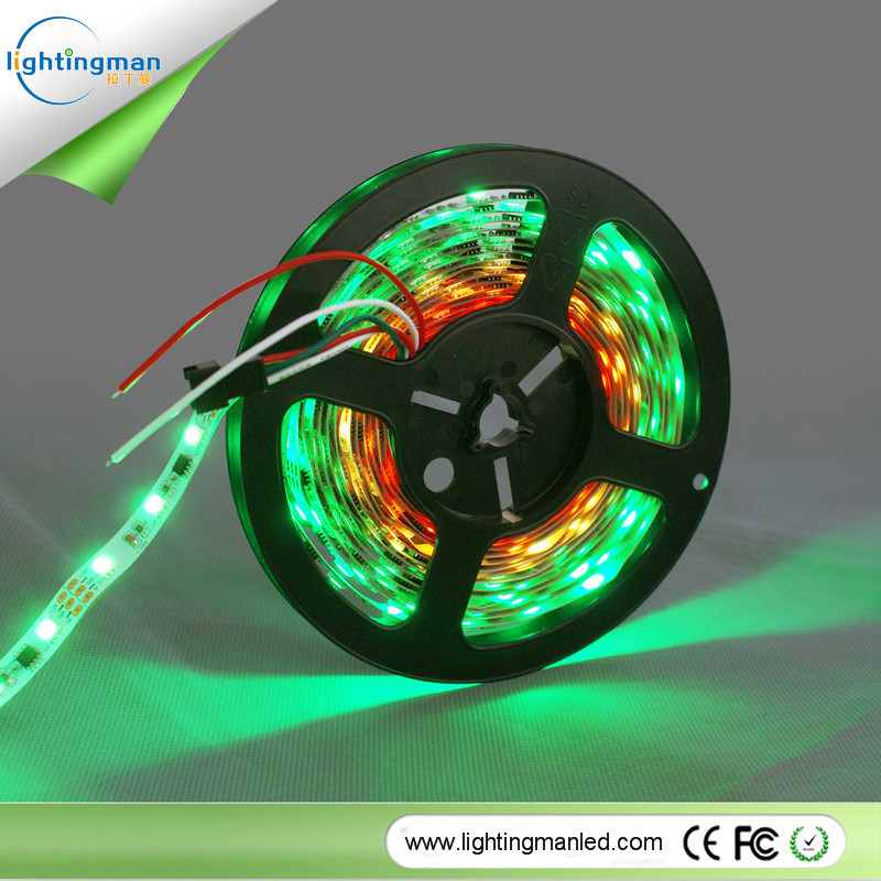 Built-in IC 30/60/144 leds/m smd 5050 digital rgb 5v led strip ws2812b