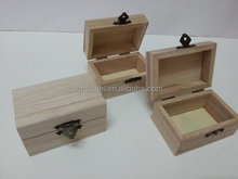 Custom unfinished small cheap wooden boxes,unpainted wood box
