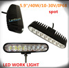 chinese utv parts 12 volt automotive led lights 40w 5w*8pcs IP68 CR EE