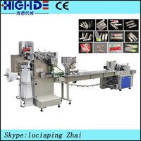 Disposable straw facial baby tissue paper automatic cutting and packing machine