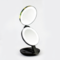 New supply smart stretch folding mirror stand desktop LED makeup mirror professional makeup mirror