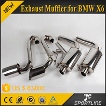 JC Sportline 304 Steel Material X6 HM Style Exhaust Muffler System for BMW