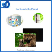 High quality China factory printing rubber personalized custom souvenir 3d lenticular fridge magnet