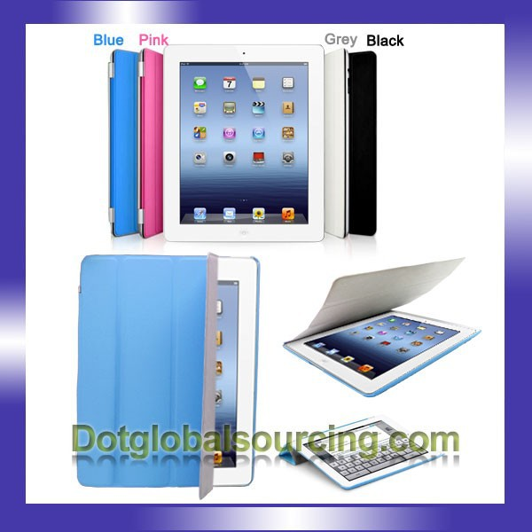 Multi- colors Different Size Leather Smart Cover For iPad/iPad 2/ iPad 3
