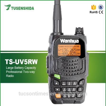 TS-UV5RW Handheld 5W UHF VHF fm Amateur Walkie Talkie with Large LCD display Frequency handy 2 way Radio