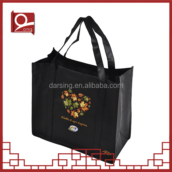 New design eco-friendly leaf printed non-woven tote bag