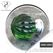 Pumpkin style home decor crystal cabinet furniture door handle drawer knobs reel control knob
