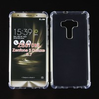 Transparent Clear Strong Protective Shockproof tpu case for Zenfone 3 Deluxe ZS570KL