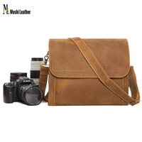 Vintage Handmade Genuine Leather Camera Bag / DSLR Case PD01
