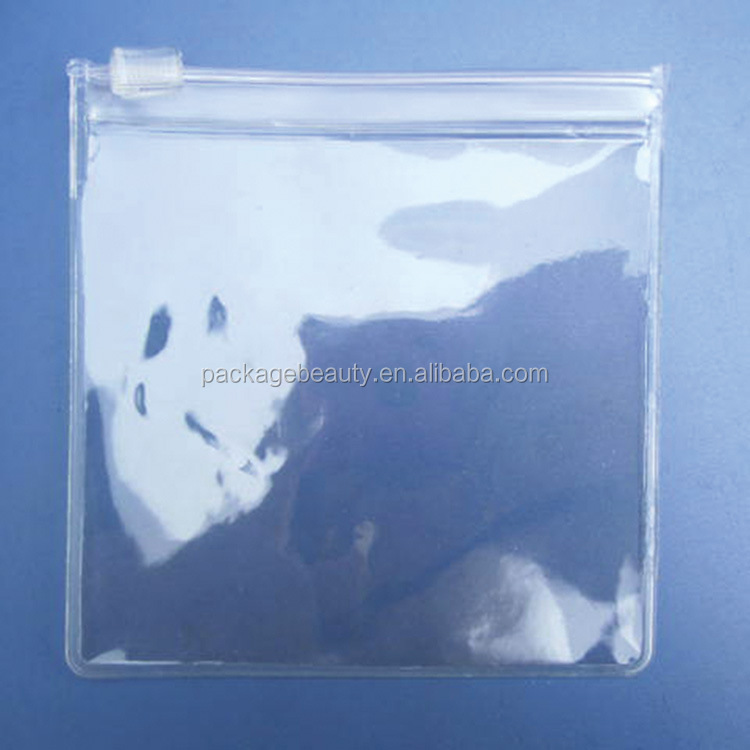 promotional ziplock plastic PVC transparent packaging bag with own logo