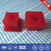 Custom made nylon pu pom plastic flange shoulder square bushing