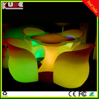 Rotomolding Modern Outdoor LED Furniture/Garden RGB Glowing Furniture Used in Yard