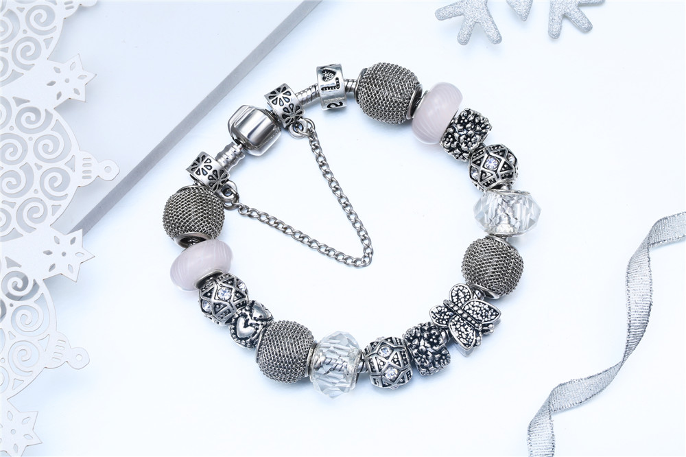 BRICOLAGE à la main papillon charme bracelet cristaux de mode bracelets pour les femmes